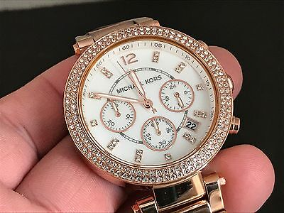 michael kors chronograph watch how to change date