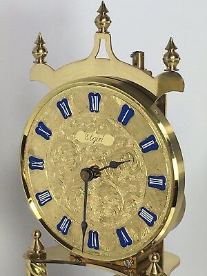 Early Elgin Glass Dome Anniversary Clock Non-Working for Parts. BEAUTIFUL