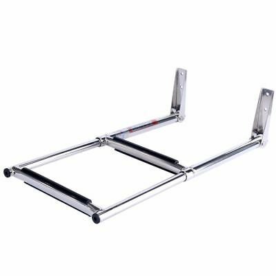 2 Step Stainless Marine Boat Ladder Upper Platform Telescoping Amarine-made New