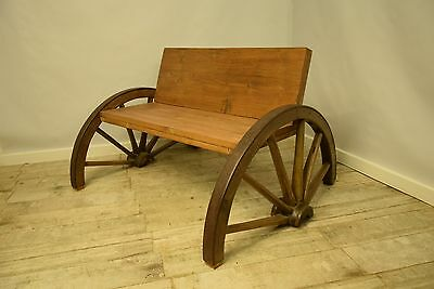 Recycled Bench Wagon Wheel Cart Wheel Garden Patio Handmade