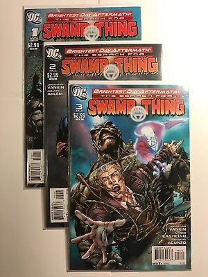 Brightest Day Aftermath: The Search for Swamp Thing #1-3 Lot!! (August 2011, DC)