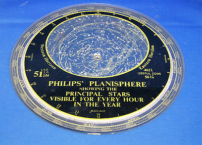 A characterful antique sheet plastic planisphere, slightly damaged
