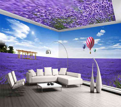 Great Lavender 3D Full Wall Mural Photo Wallpaper Printing Home Kids Decoration