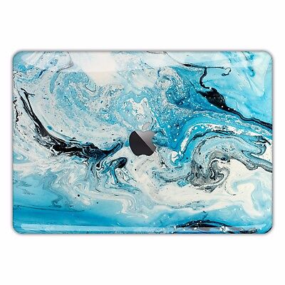 Marble Macbook Skin Sticker Cover Decal Pro Air Retina Abstract Paint Blue FSM54