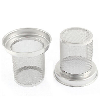 Stainless Steel Round Loose Tea Infuser Filter Strainer Cup Mug 2 Pcs R1Q9