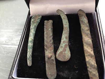 Four Roman Fibula Brooches Parts All UK finds From Yorkshire