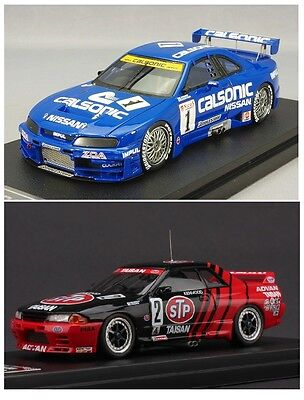 Set Of Two 1:43 Hpi Nissan Skyline - Calsonic Gt-R R33 1996 Jgtc 8831 & R32 8612