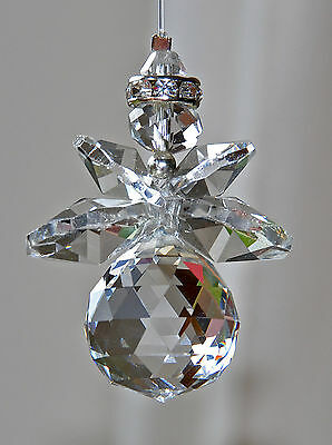 50mm Crystal Guardian Angel Suncatcher rearview mirror Protection Balance power