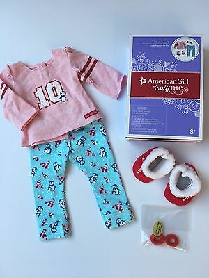 "AMERICAN GIRL 18"" OUTFIT Holiday Penguin Pyjamas PJs for Doll - NEW IN BOX NIB"