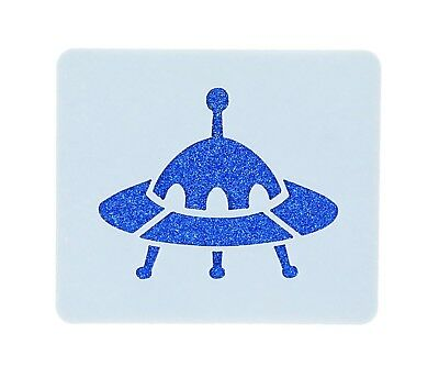 Flying Saucer Face Painting Stencil 6cm x 7cm 190micron Washable Reusable