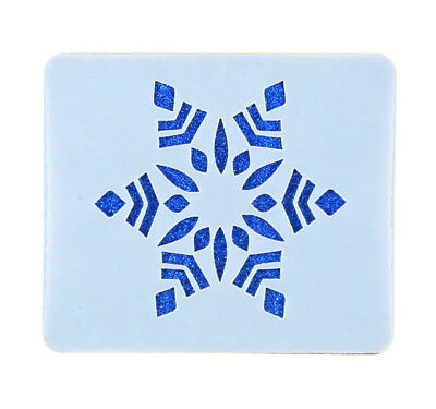 Christmas Snowflake Face Painting Stencil 6cm x 7cm 190micron Washable Reusable