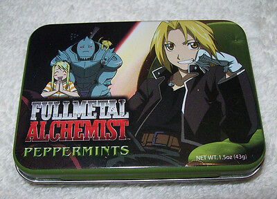 LOT # 722 FULL METAL ALCHEMIST TIN CAN w/ EDWARD ELRIC, ALPHONSE ELRIC, & WINRY