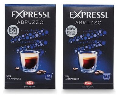 32 Capsules (2 boxes) Aldi Expressi Coffee Pods Abruzzo - Intensity 12