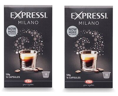 32 Capsules (2 boxes) Aldi Expressi Coffee Pods Milano - Intensity 10