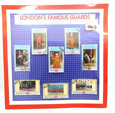 Vintage Kingdom Of Yemen 1970 London's Guards Stamp Set Philympia New MOC 1310