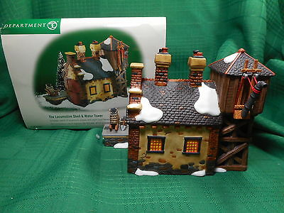 Dept 56 The Locomotive Shed & Water Tower  Dickens Village