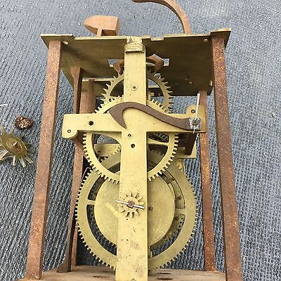 unusually large longcase grandfather clock movement