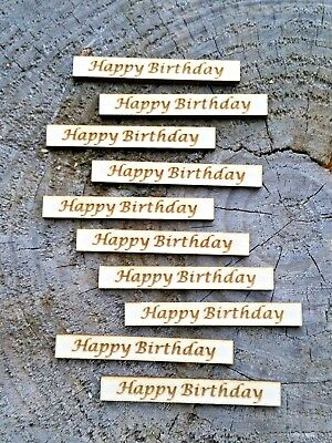 Happy Birthday Wooden Toppers / Wording can be changed / Invations