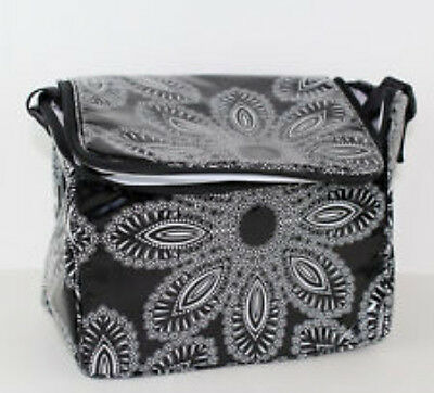 Vera Bradley Bianco Bouquet Stay Cooler Insulated Lunch Tote Black NWT School
