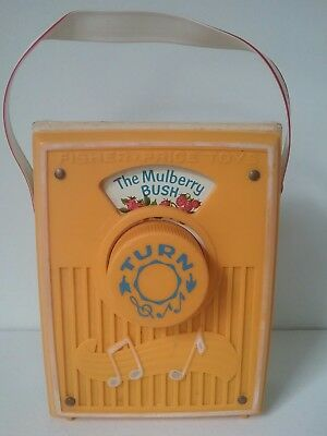 Vintage 1970 Fisher Price Music Box Pocket Radio The Mulberry Bush Works 758