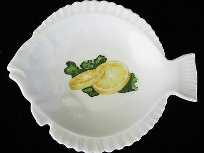 Porcelain Dish Marked Exclusive Chamart France Limoges For Fish Lemons Small