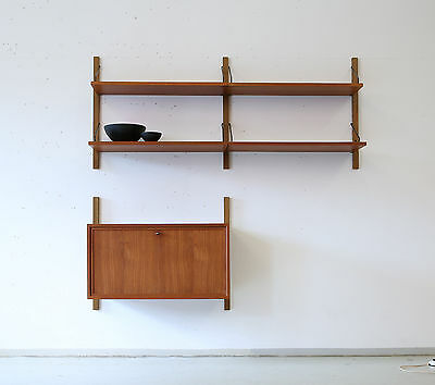 60er POUL CADOVIUS Teak REGALSYSTEM Wandregal DANISH 60s CADO SHELVING UNIT 50s