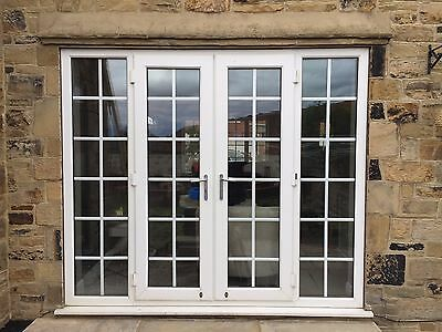 2 upvc side panels picclick uk for White upvc french doors with side panels