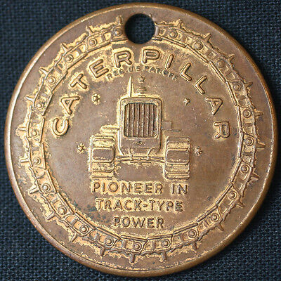 1954 Caterpillar 50 Years On Track Anniversary Pioneer Tractor Pendant Medallion