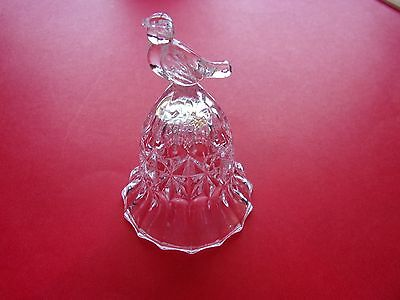 Small Glass BELL with Bird Handle - has clapper