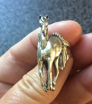 925 Sterling Silver Horse Equestrian Rider Ring Size 6 🇺🇸shipper