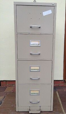 Vintage Industrial Metal Filing Cabinet Drawers