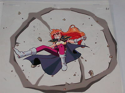 The Slayers hand-painted Production Anime Cel - Lina #3 + Sketch
