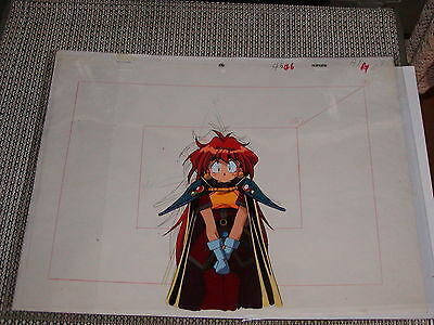 The Slayers hand-painted Production Anime Cel - Lina #4 PAN cel + Sketch