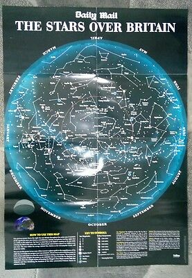 Night sky star map reversible, astronomy constellations, solar system moon.