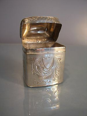 HANAU DUTCH SILVER BOX POSSIBLY A SILVER PEPPERMINT BOX.Circa 1880 or prior
