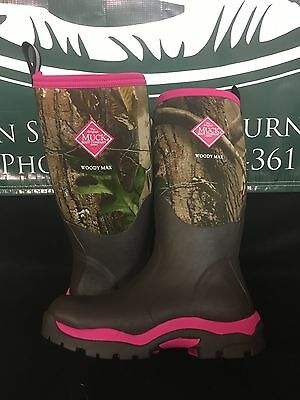 Muck Boot Co. Women's Woody Max PK Hunting Boot Women Sizes WWPK-RAPG Brand New