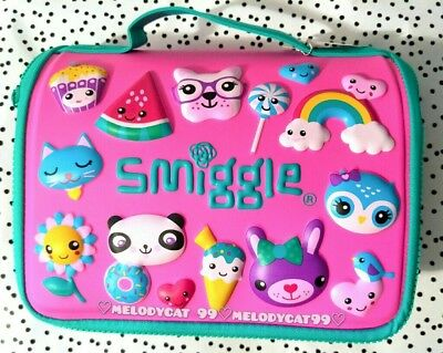 NEW! Smiggle DELUXE HARDTOP Lunch Box Lunchbox for Girls, Animals Cuties