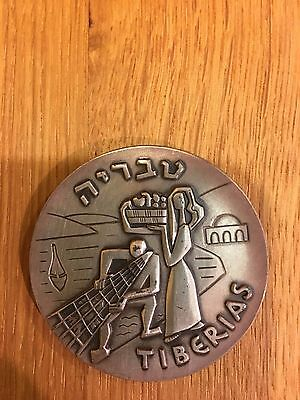 ISRAEL SILVER COIN 1965 STATE MEDAL TIBERIAS HISTORICAL CITY, 48gr