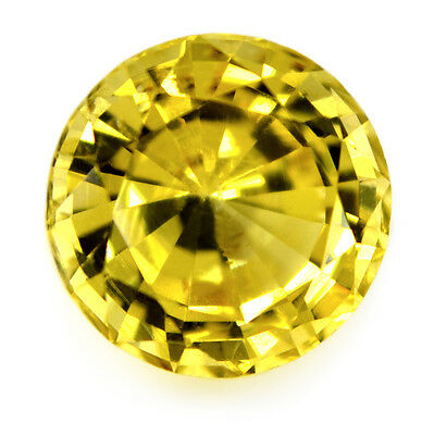 6.9mm Round Certified Natural Unheated Yellow 1.60ct Ceylon Chrysoberyl VVS Gem