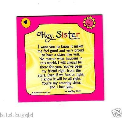 Fridge Magnet Sister Inspirational Verse Blue Mountain Arts