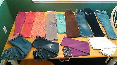 Lot of 4T Toddler Girls Jeans & Pants 13 Pre-Owned Items Various Mfg's