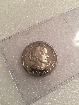 1980-S Susan B Anthony Dollar From Proof Set (Not Roll) Condition E-22-16