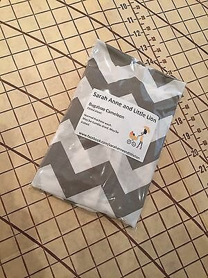 Bugaboo Donkey fitted sheet for carrycot bassinet Grey chevron