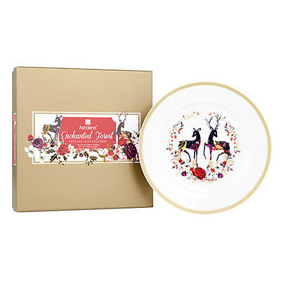 Ashdene Enchanted Forest Festive Collection Accent Plates Set Of 4 Rrp$39.95