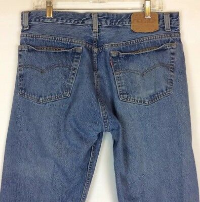 Levis 501 Made In USA 38x32 Button Fly Jeans Faded Blue Stonewash 100% Cotton