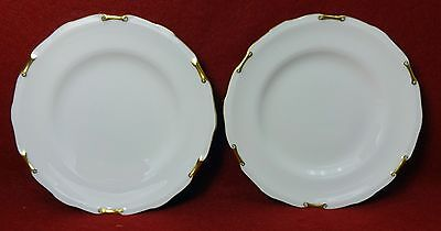 """ROYAL CROWN DERBY England china REGENCY A1075 Set of Two (2) Bread PLATES 6-1/8"""""""