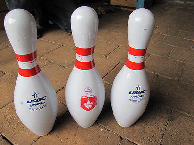 Set 3 USBC Approved TEN PIN BOWLING SKITTLES Man Cave