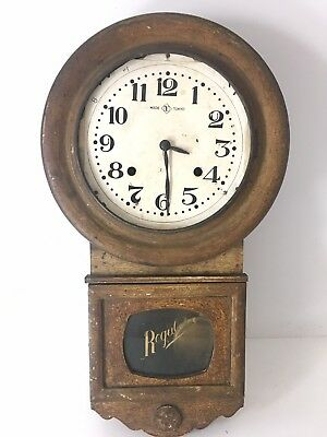 ANTIQUE JAPANESE FINE REGULATOR WALL CLOCK. For Parts Or Projects
