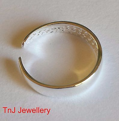 NEW Genuine Solid 925 Sterling Silver Toe Ring Top Quality Free Postage