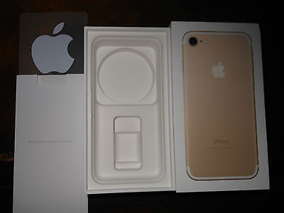 New Apple iPhone 7 Box 128GB  Gold BOX ONLY with Apple Stickers New Box